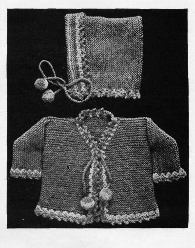 bebek hırka ve şapka takımı örneği