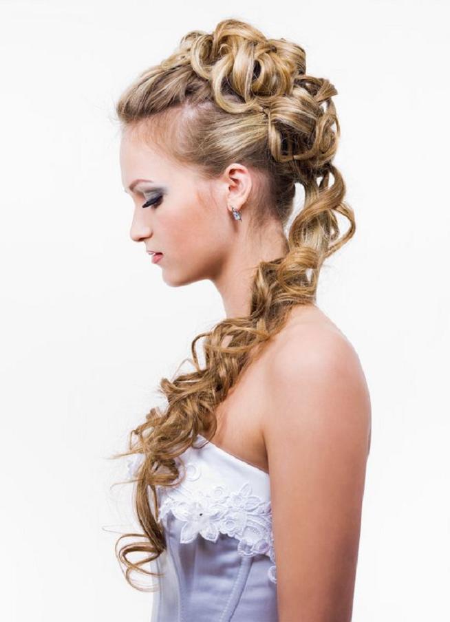 Abiye maşalı saç modelleri