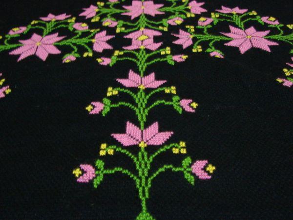 Etamin çiçek figürü nasıl yapılır