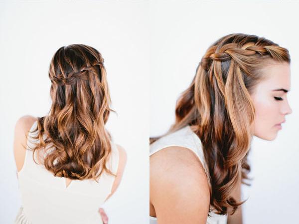 Genç kızlar için örgü saç modeli