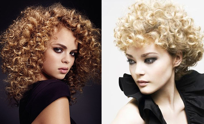 Kıvırcık harika saç modelleri