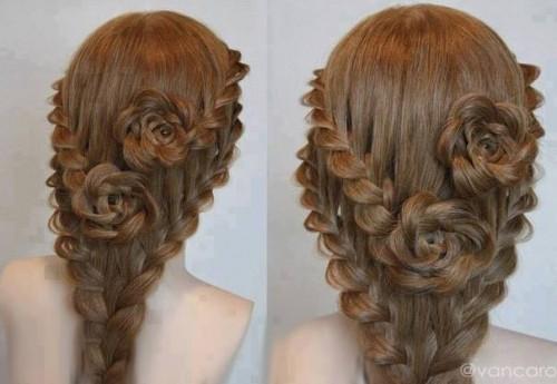 Marjinal örgülü saç modelleri