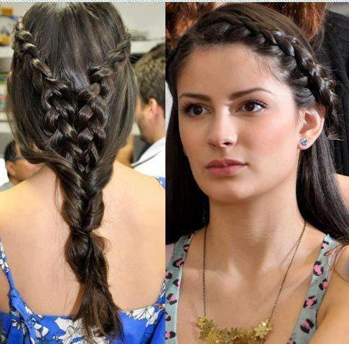 Moda Marjinal örgülü saç örnekleri