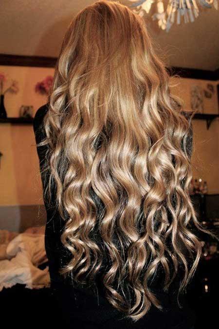 Uzun doğal saç maşa örneği