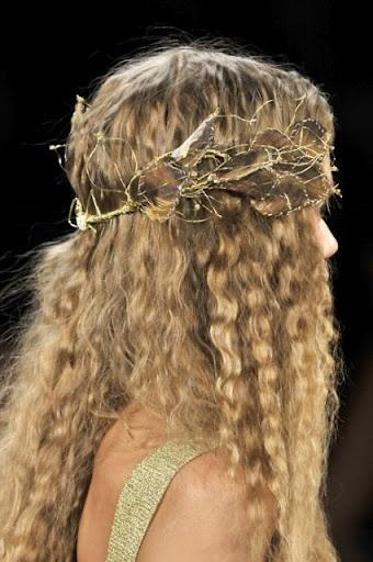 özel günler için perma saç modeli