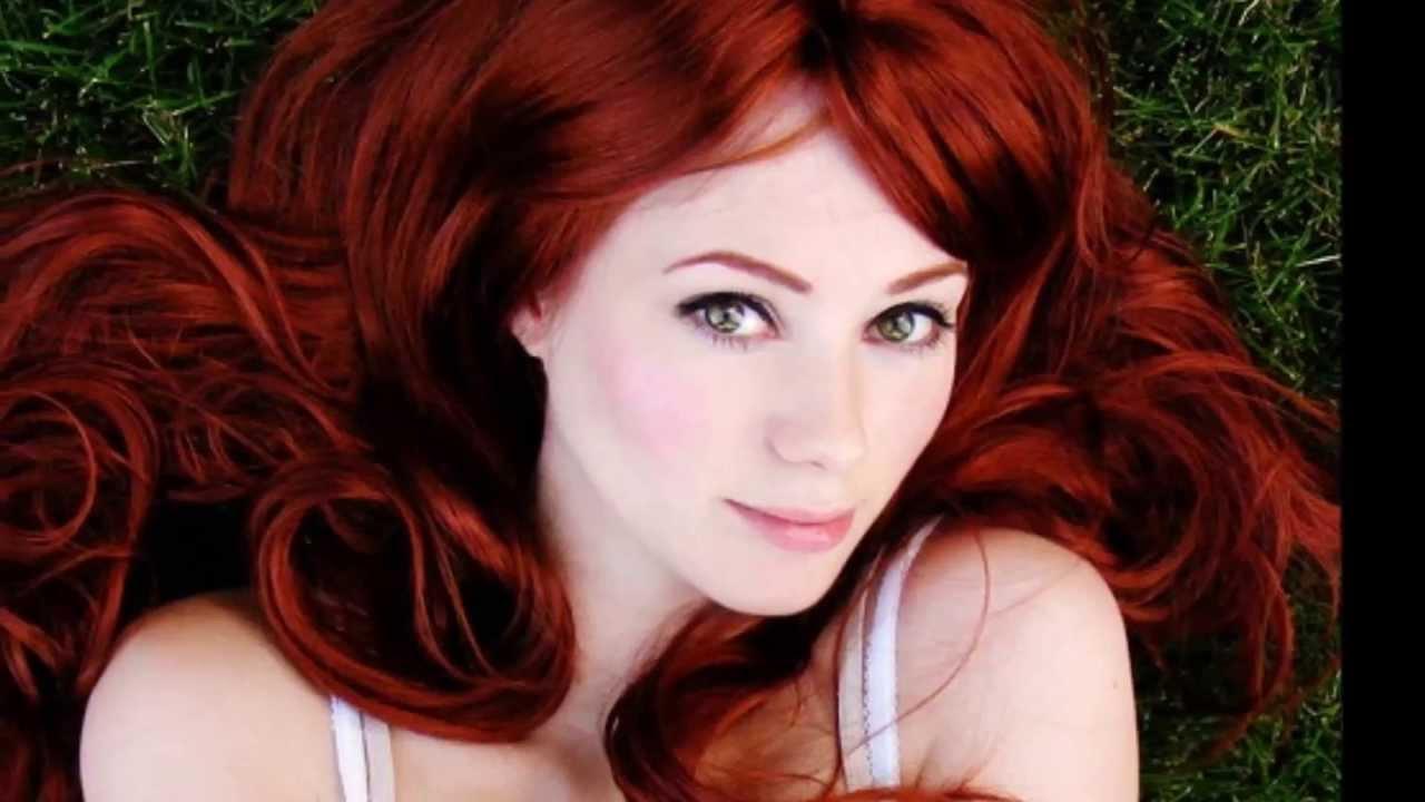 Bakımlı kızıl saç modelleri
