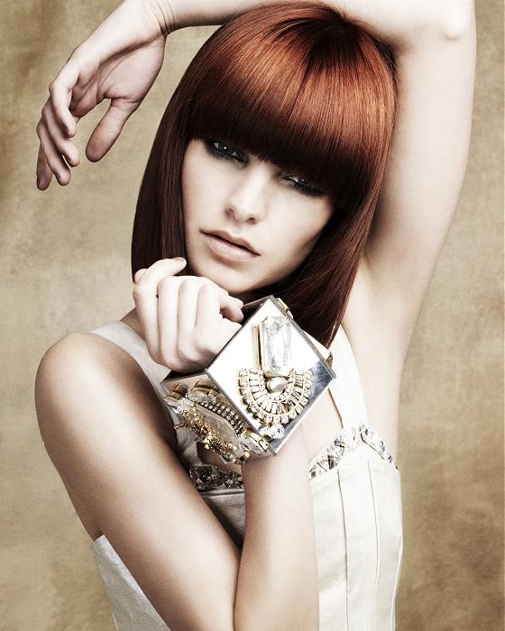 Küt kızıl saç modeli
