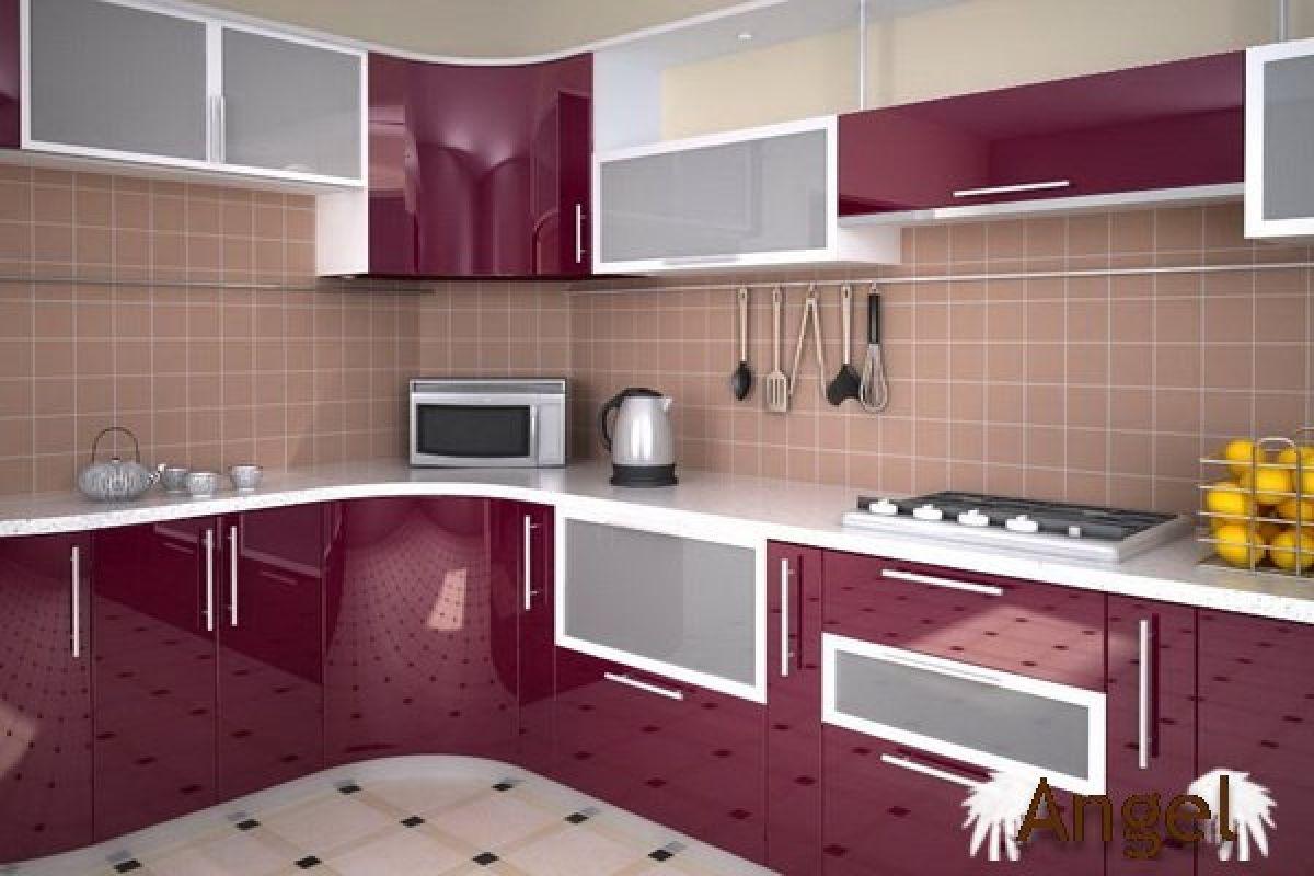 Акриловые кухни фото