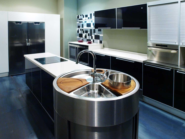 Modern dizayn oval mutfak tezgahları