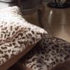 Leopar desenli yastık