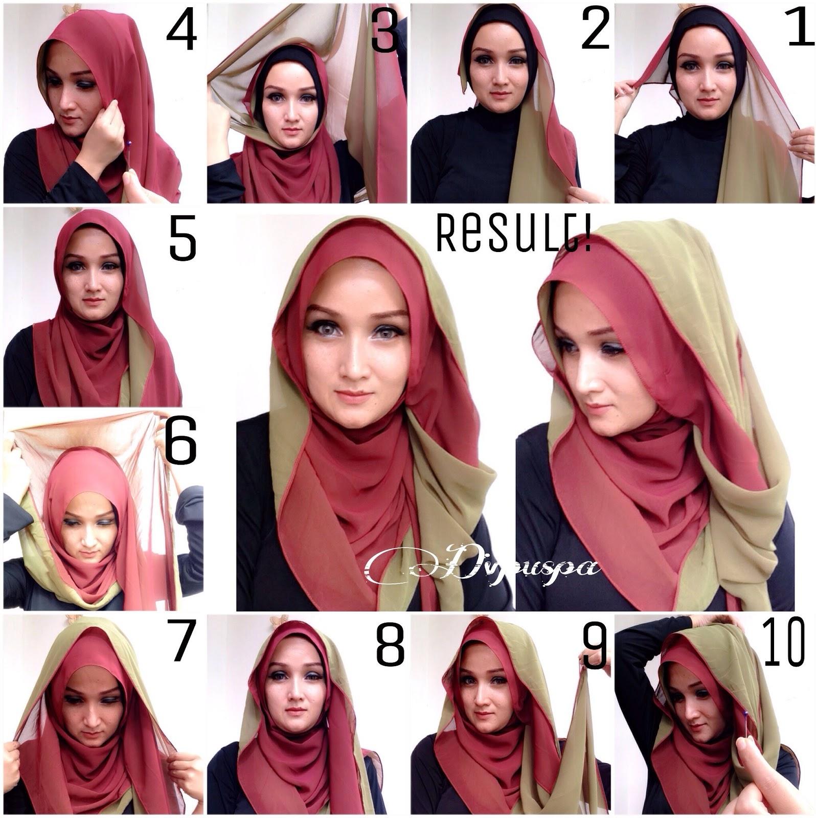 Как завязывать платок на голову по мусульмански фото пошагово
