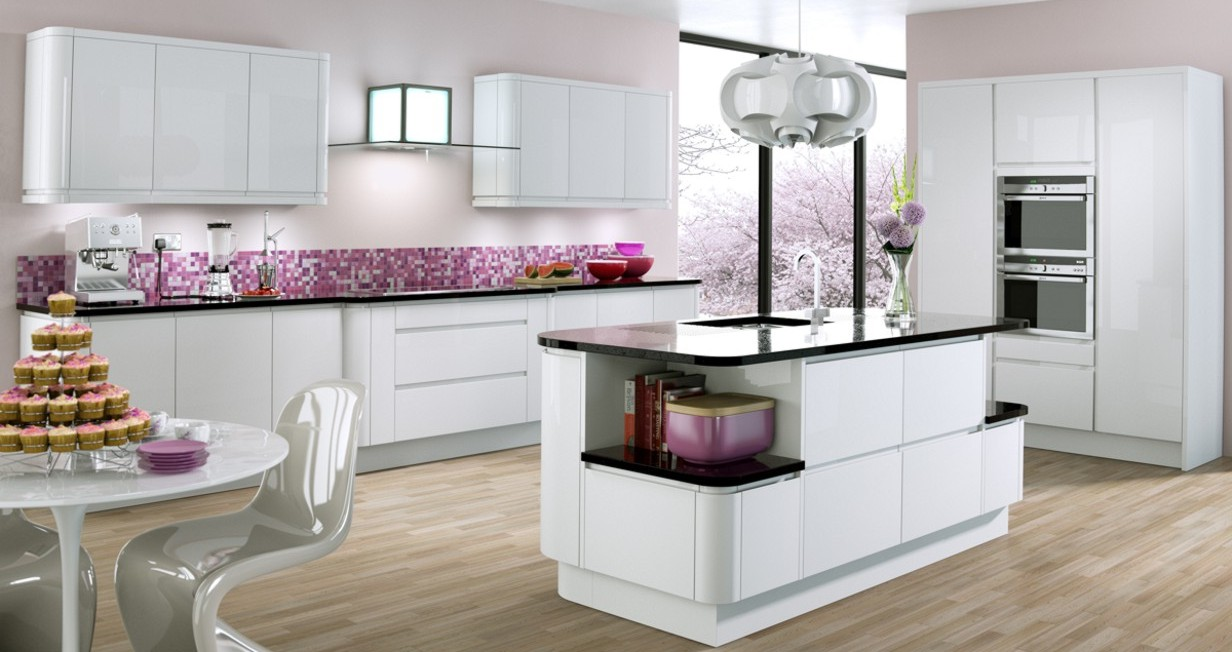 Cream Gloss Kitchen Tile Small White Gloss Kitchen Ideas Yes Yes Go