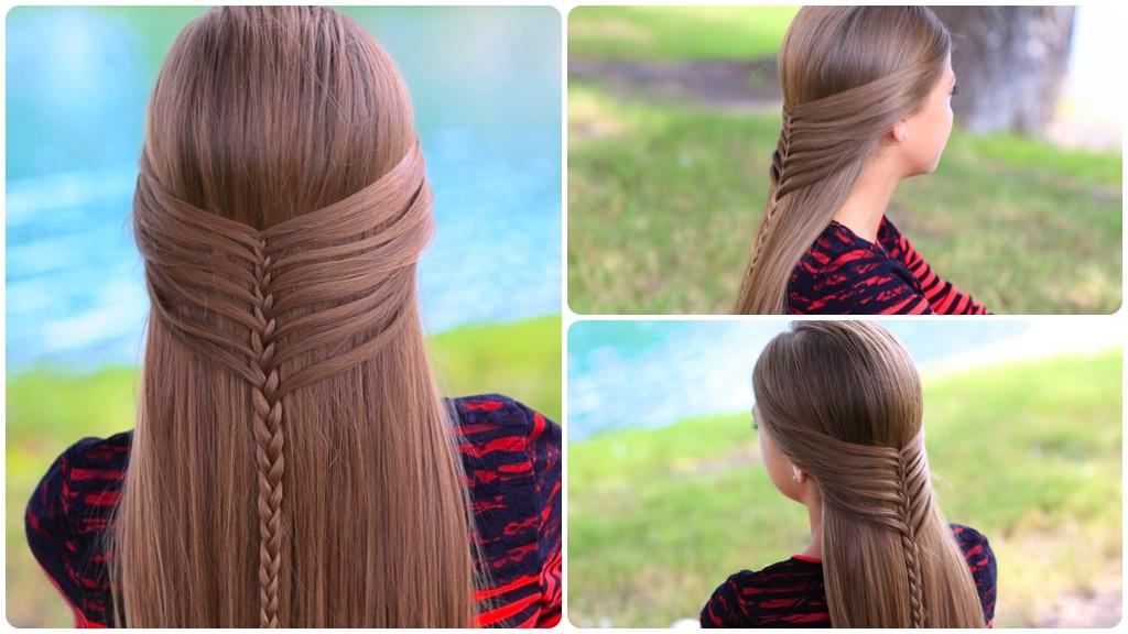 Фото причесок на длинные волосы для девочек 10 лет в школу