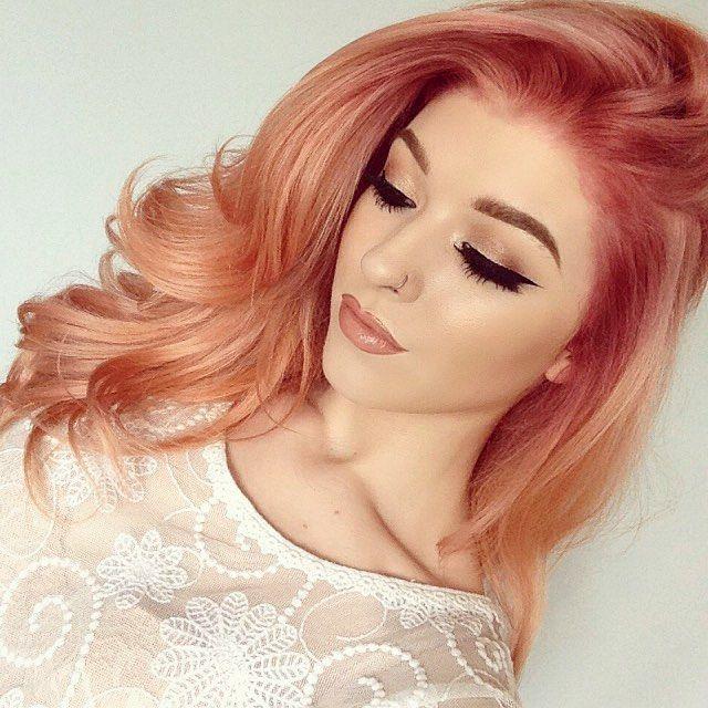 Rose gold haarfarbe