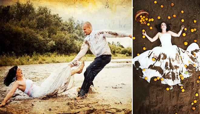 Çılgın komik düğün fotoğrafları