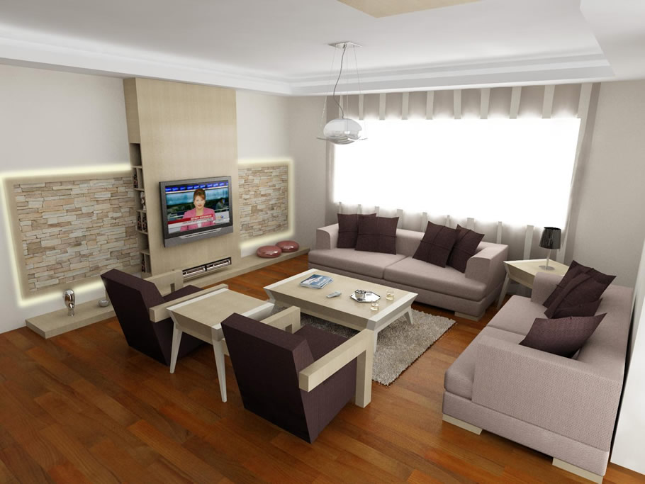 K k salonlar in dekorasyon fikirleri for L salon dekorasyonu