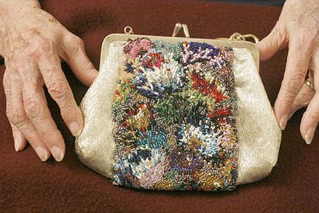 boncuk işlemeli çanta