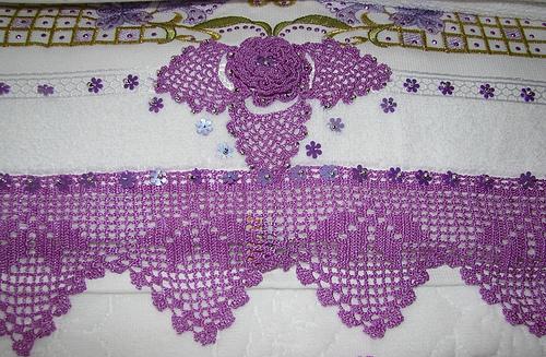 Boncuklu Motfli Havlu Kenarı Örneği