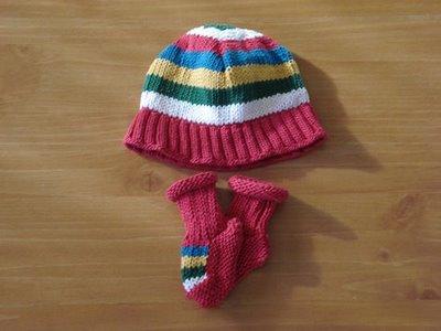 renkli bebek şapkası