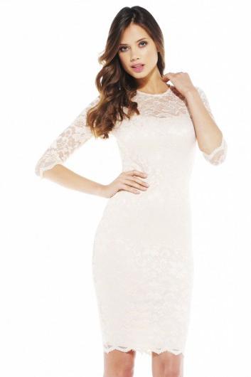 f29f3c74a06c0 Beyaz diz altı abiye elbise modeli · kadincasayfa.com