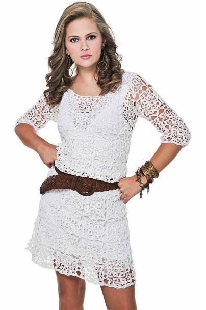 Baharlık Örgü Bayan Elbise Modelleri