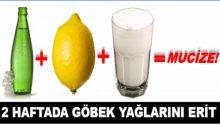 Soda – Ayran – Limon Kürü Yaparak 2 Haftada Göbek Yağlarını Eritin