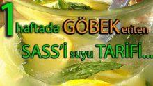 1 Haftada Göbek Eriten Sass'i Suyu Tarifi