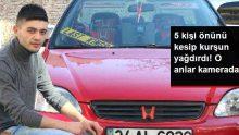 Otomobiliyle dolaşmaya çıkan genç adam, silahlı saldırıya uğradı! O anlar kamerada
