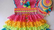 Yeni Örgü Baharlık Çocuk Elbise Modelleri