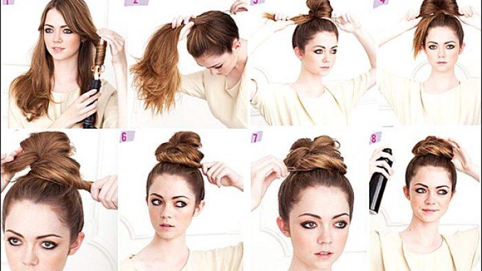 Resimli Anlatımlı Kolay Saç Modelleri