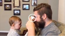 Baba Yıllardır Uzattığı Sakallarını Kesti – Babasını Tanıyamayan Bebek Ağlamaya Başladı