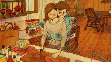Bazen Değerini Bilmesek De, Çizilen Sade ve Samimi Resimler Aşkı Çok Güzel Şekilde Anlatıyor.