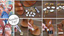 El Yapımı Ayakkabı Süsleme Örnekleri
