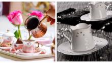 İnci Ve Taş İşlemeli Türk Kahvesi Fincan Modelleri