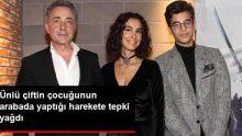 Oyuncu Mehmet Aslantuğ'un oğlunun arabada verdiği poza tepki yağdı