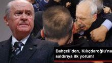 Bahçeli'den, Kılıçdaroğlu'na Yapılan Saldırıya İlk Yorum: Memnuniyet Duymak Mümkün Değil