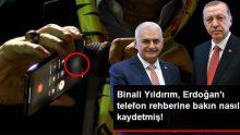 Binali Yıldırım, Recep Tayyip Erdoğan'ı telefon rehberine bakın nasıl kaydetmiş!