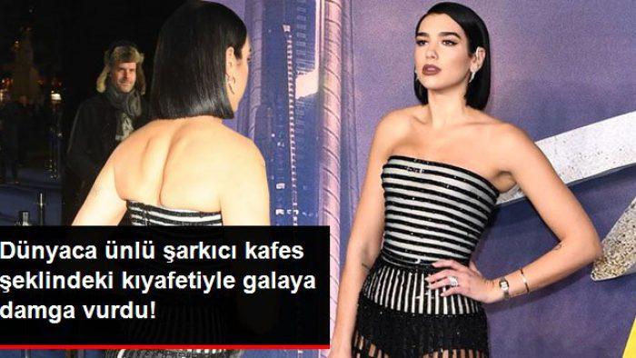 Ünlü Şarkıcı Dua Lipa, Kafes Şeklindeki Kıyafetiyle Katıldığı Galaya Damga Vurdu