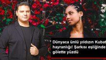 """Dünyaca Ünlü Şarkıcı Alicia Keys, Kubat'ın """"Halkalı Şeker"""" Şarkısı Eşliğinde Gölette Yüzdü"""