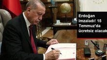 Erdoğan imzaladı, 15 Temmuz'da Başkentray ve Marmaray ücretsiz oldu