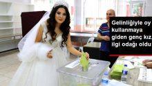 Tekirdağ'da Gelinliğiyle Sandık Başına Gidip Oy Kullandı