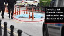 Veda Mektubu Bırakan Genç Kız, Plazanın 42'nci Katından Atladı
