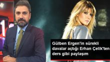 Gülben Ergen'in sürekli davalar açtığı Erhan Çelik'ten ders gibi paylaşım