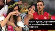 Mesut Özil'in nişanlısı Amine Gülşe, bekarlığa veda partisinde gözyaşlarına boğuldu