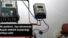 HDP ve DBP'nin parti binasında kaçak elektrik kullandığı tespit edildi