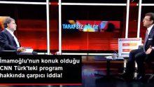 Mehmet Aslan'dan Ekrem İmamoğlu'nun Katıldığı CNN Türk'teki Program Hakkında Çarpıcı İddia: Erken Bitirdiler