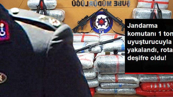 İlçe Jandarma Komutanı 1 Ton Uyuşturucuyla Yakalandı, Uyuşturucu Rotası Deşifre Oldu
