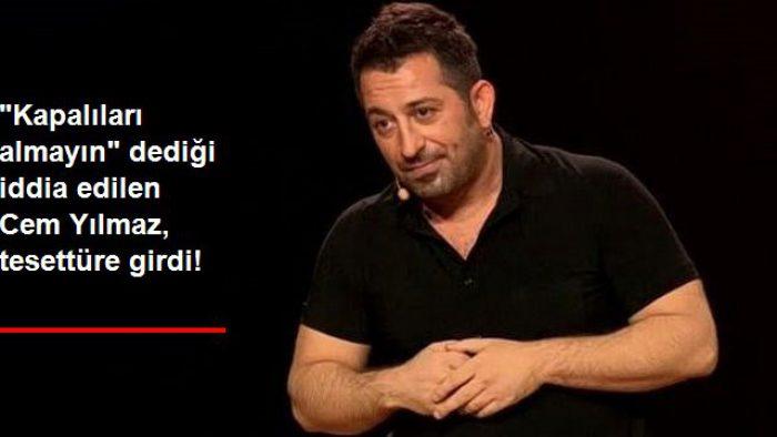 Tesettürlüleri otele aldırmadığı iddia edilen Cem Yılmaz, fotoğrafıyla o iddialara cevap verdi