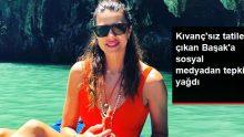 Başak Dizer'in Kıvanç Tatlıtuğ'dan Ayrı Tatil Yapmasına Takipçileri Tepki Gösterdi