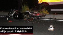 Aydın'da motosiklet refüje çarptı: 1 ölü